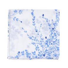 D. Porthault Hankie - Jete de Fleurs - Blue