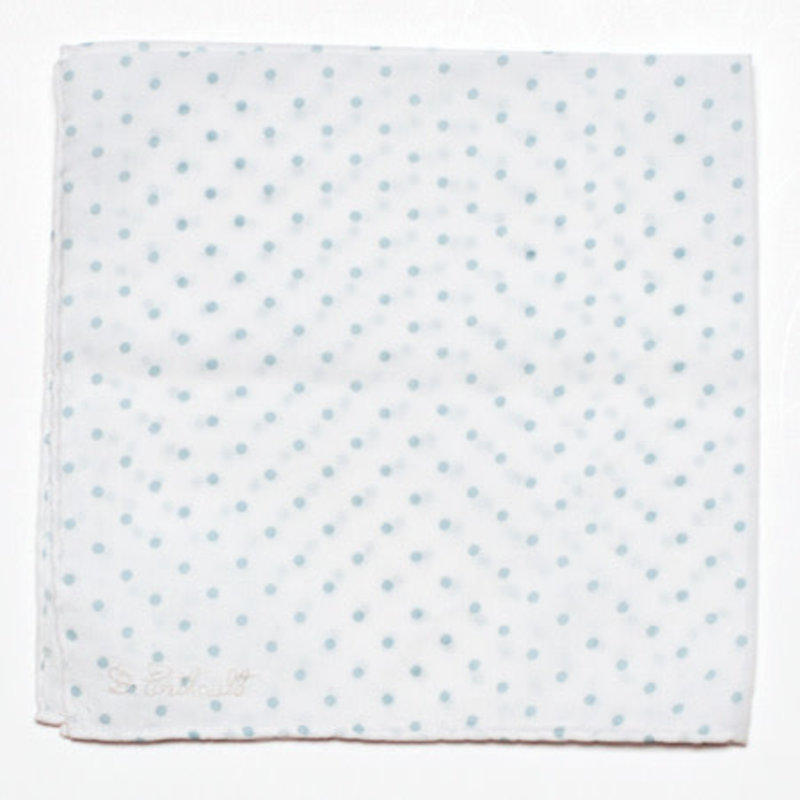 D. Porthault Hankie - Mini Confetti - Blue
