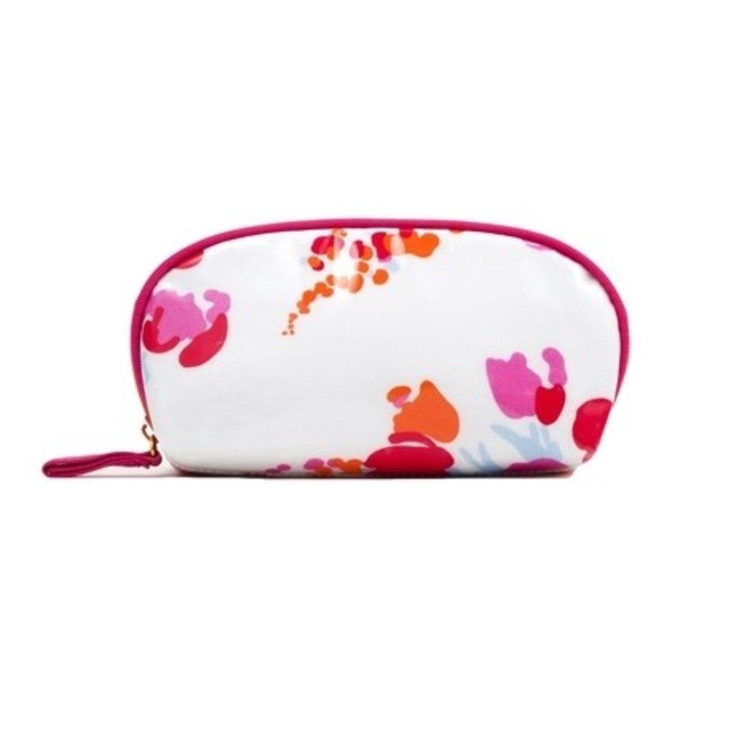 D. Porthault Bag - Demoiselles - Pink/Orange -  Laminated -  Mini Zip