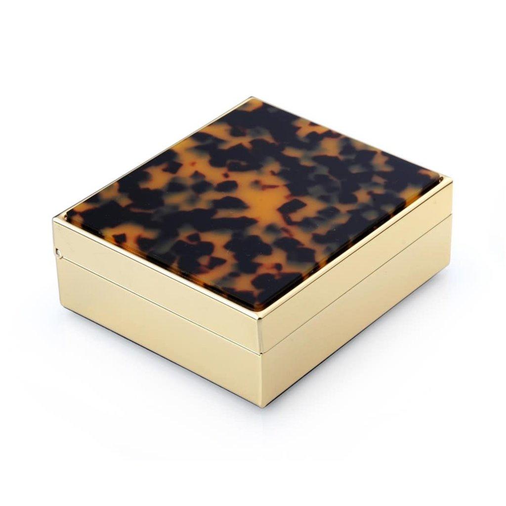 Box - Faux Tortoise & Gold - 4x3