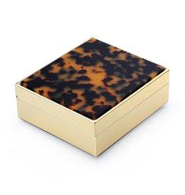 MH Faux Tortoise & Gold  Box