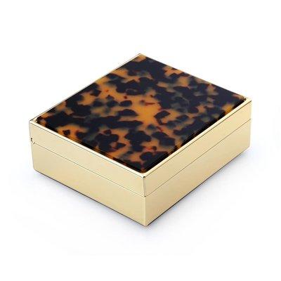 Faux Tortoise & Gold  Box
