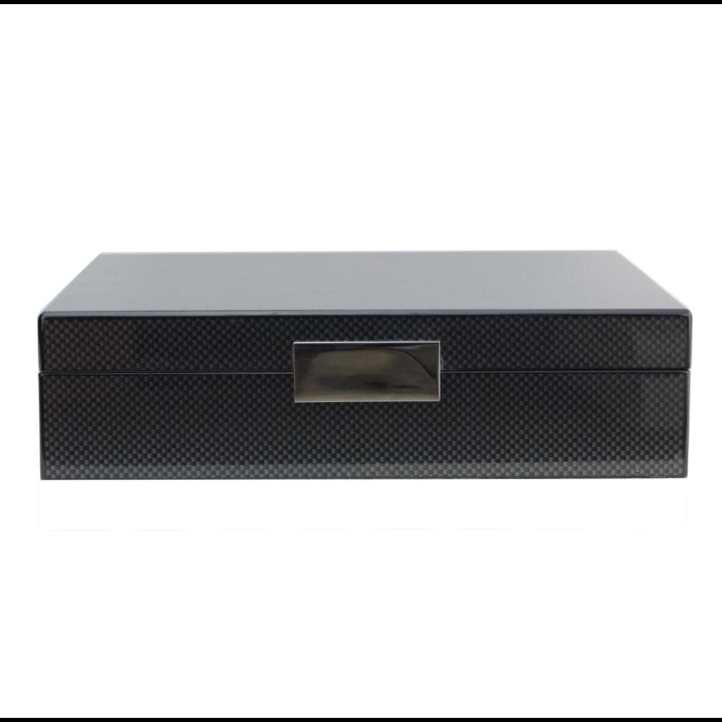 Addison Ross LTD Addison Ross Lacquered Boxes - Carbon Fiber/Silver