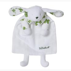 D. Porthault Childrens -  Doudou - Bunny/Blanket - Trefles - Green
