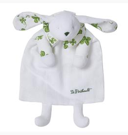 D. Porthault Doudou Bunny/Blanket - Trefles Green