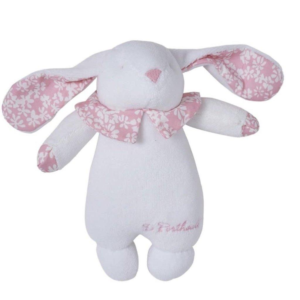 D. Porthault Childrens -  Hochette/Rattle - Bunny - Liberty - Pink