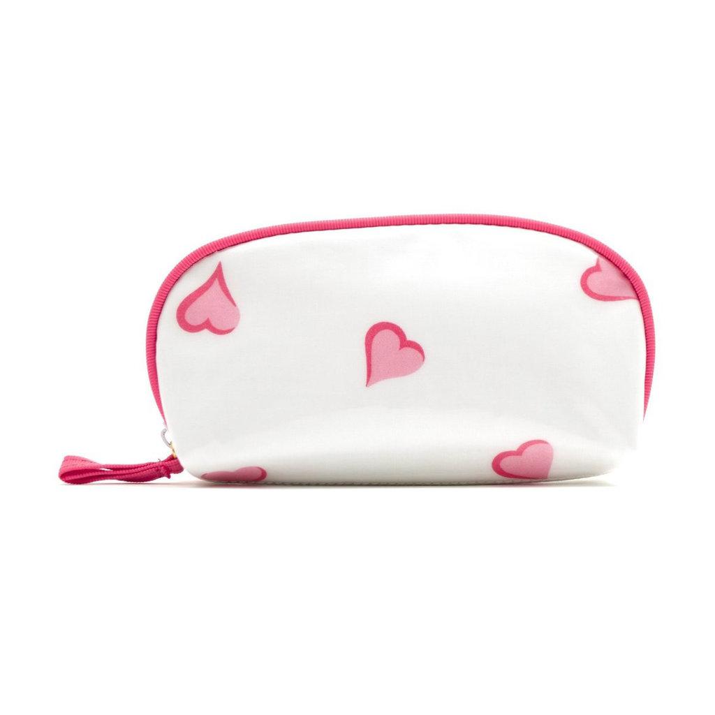 D. Porthault Bag - Coeurs - Pink - Laminated -  Mini Zip
