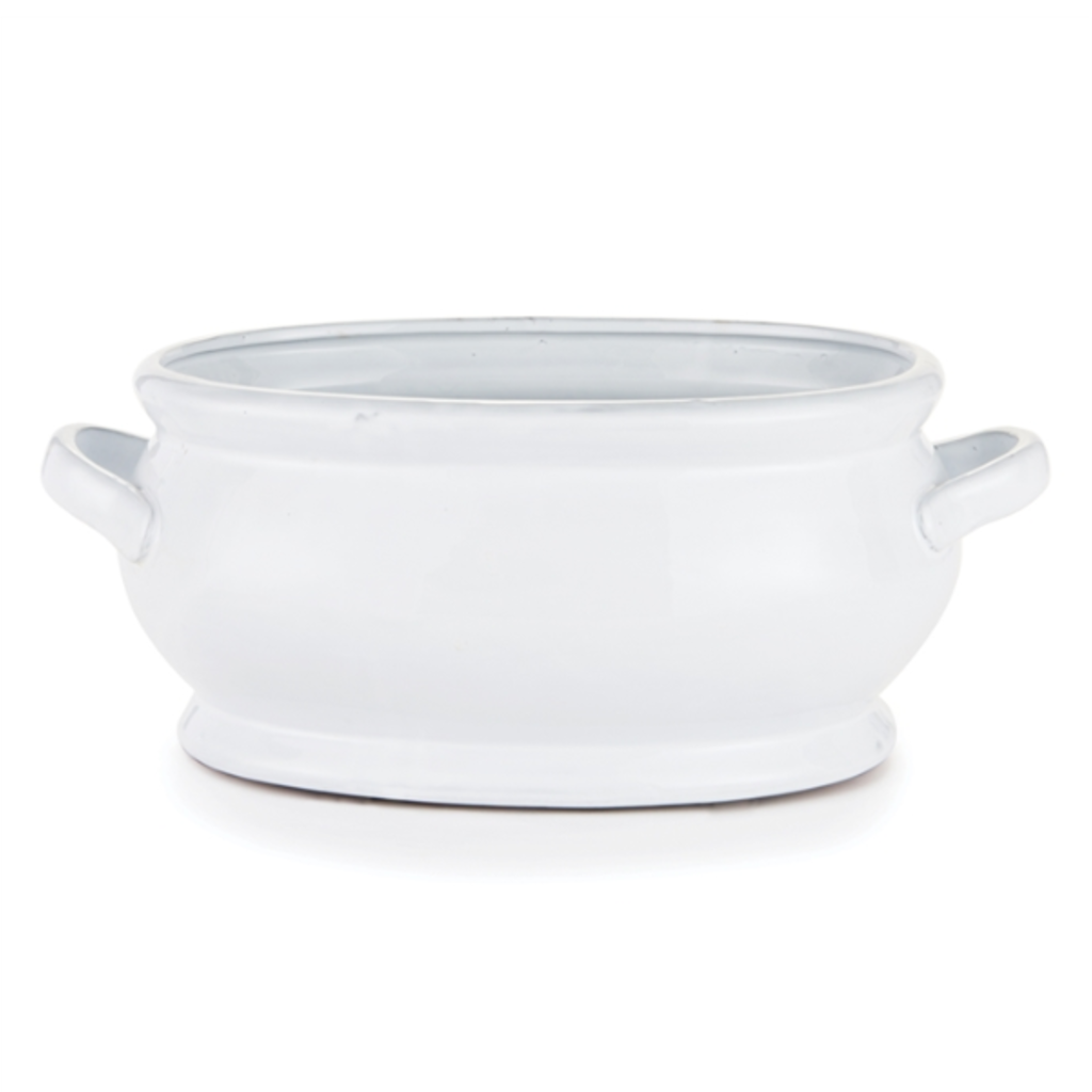 Cachepot - Bradford - Ceramic - White -