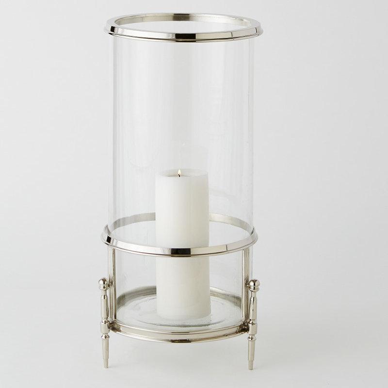 Uttermost / Revelation Hurricane/Vase - Regent - Nickel