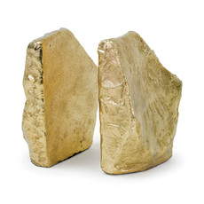 Bookends - Rock - in Soft Gold