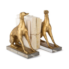 MH Bookends - Norman Dogs - Gold