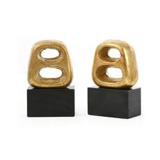 Bookends - Delphi - Pair - Gold - 7.5H
