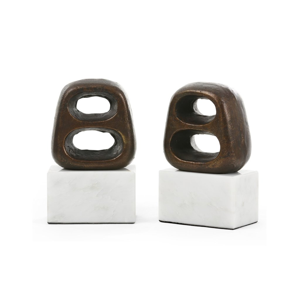 Bookends - Delphi - Pair - Bronze - 7.5H