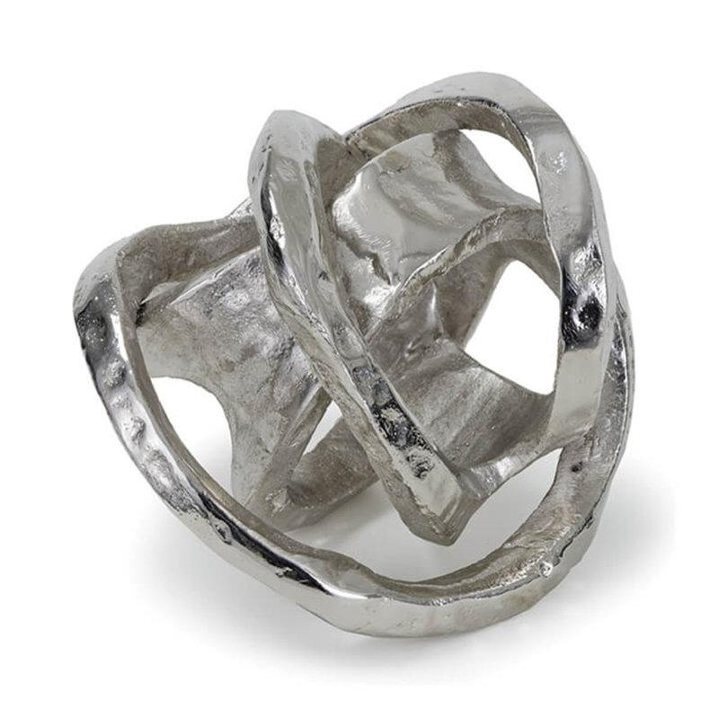 Regina Andrew Object - Metal Knot - Nickel - 7x7x7