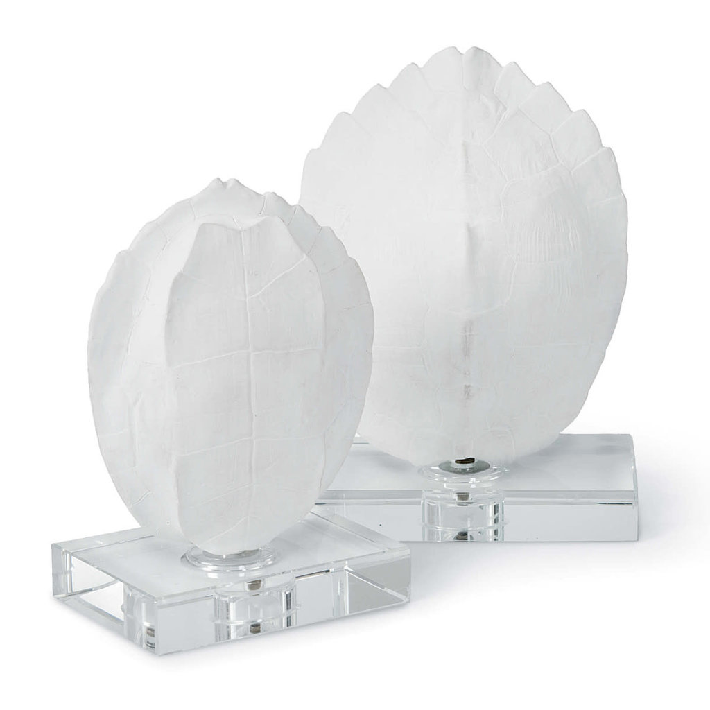 MH Turtle Shell - White - On Crystal Base -
