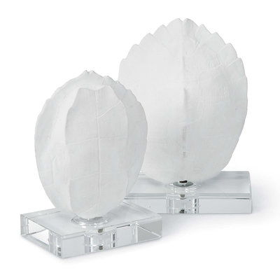 Turtle Shell - White - On Crystal Base -