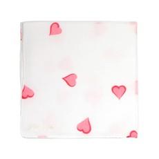 D. Porthault Hankie - Coeurs -  Pink