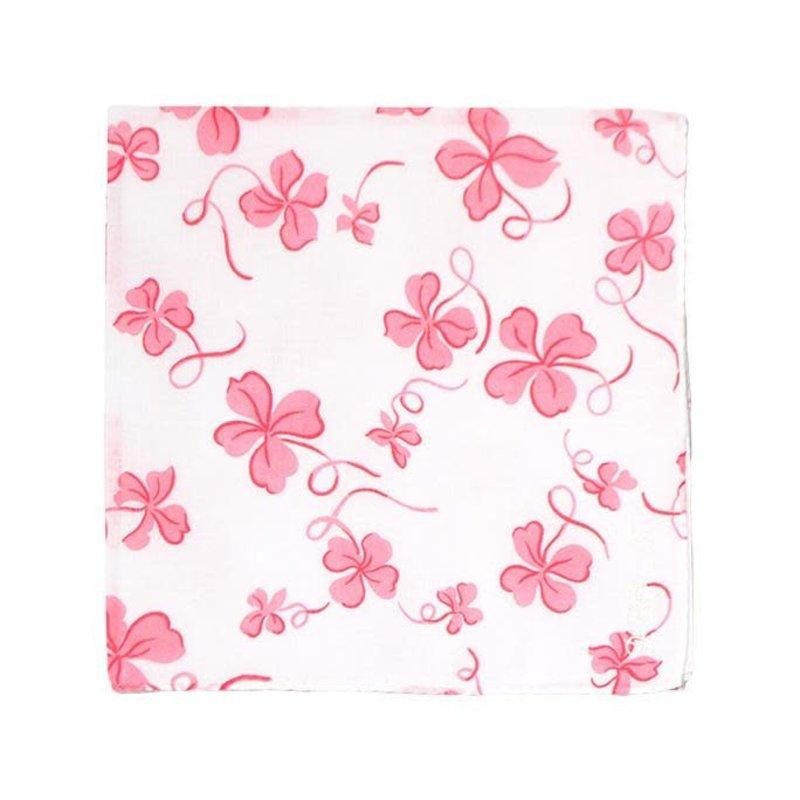 D. Porthault Hankie - Trefles -  Pink - Printed