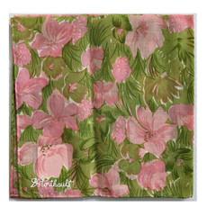 D. Porthault Hankie - Prairie - Pink/Green