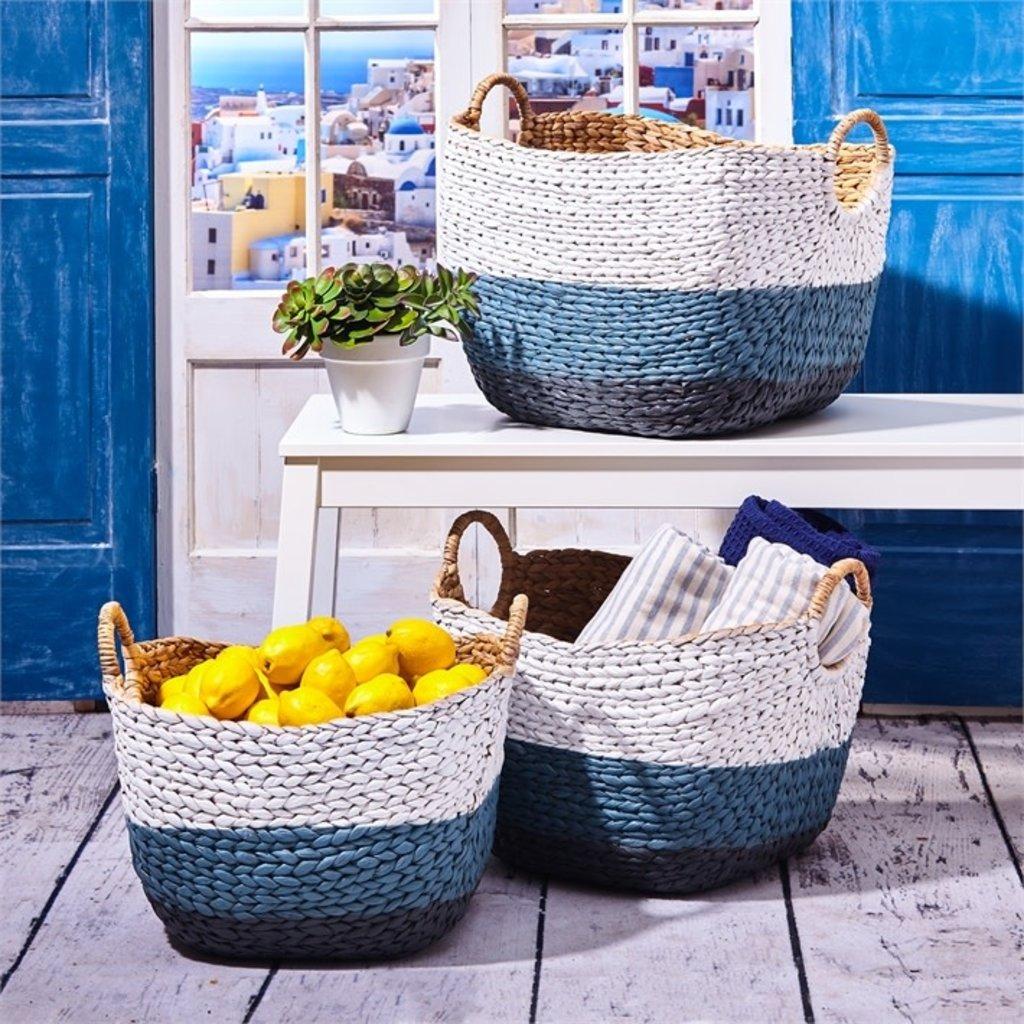 Basket - Woven Ombre - Blue -