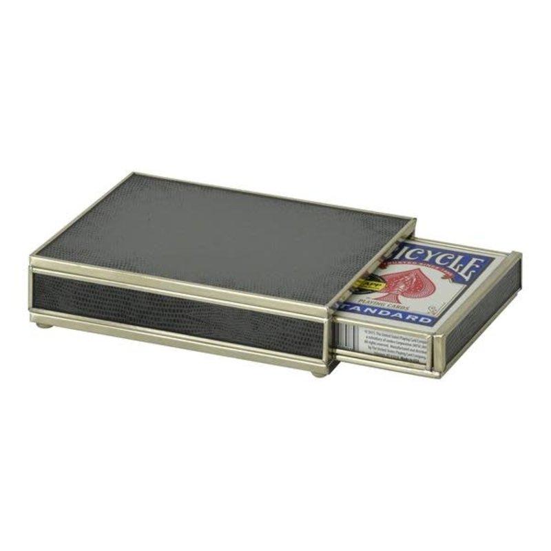 JM Piers Fine Furniture Card Box -  Black Lizard