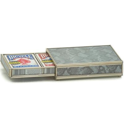Card Box -  Silver Python
