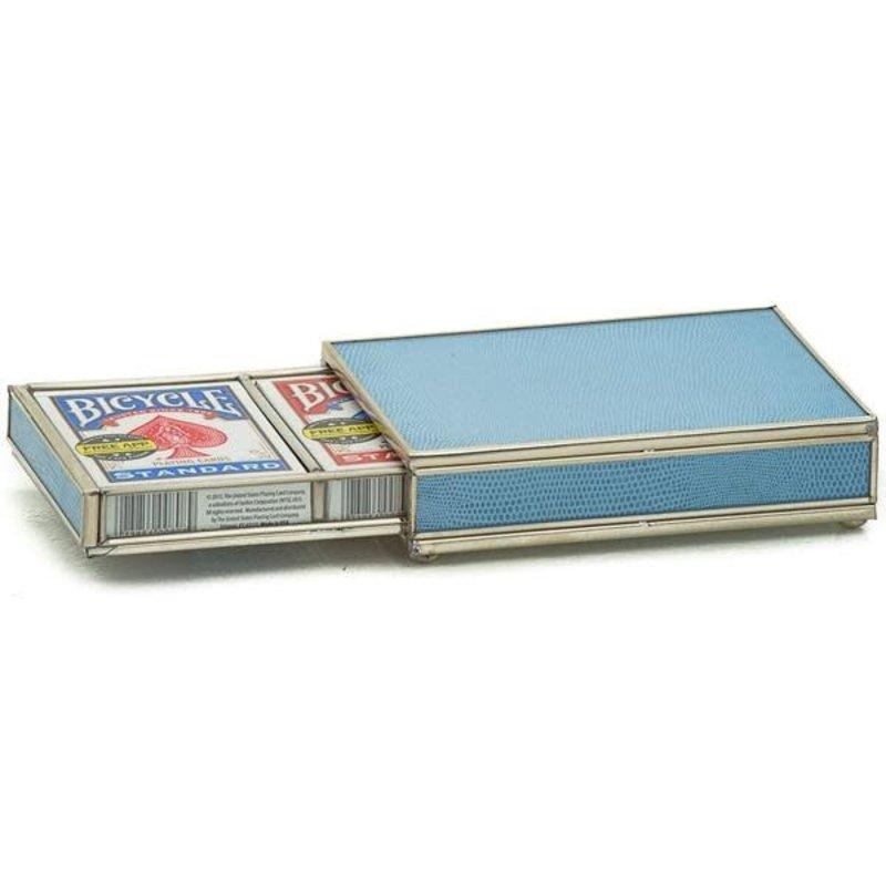 JM Piers Fine Furniture Card Box -  Blue Skin