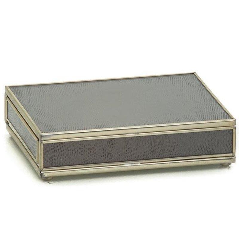 JM Piers Fine Furniture Card Box -  Brown Skin