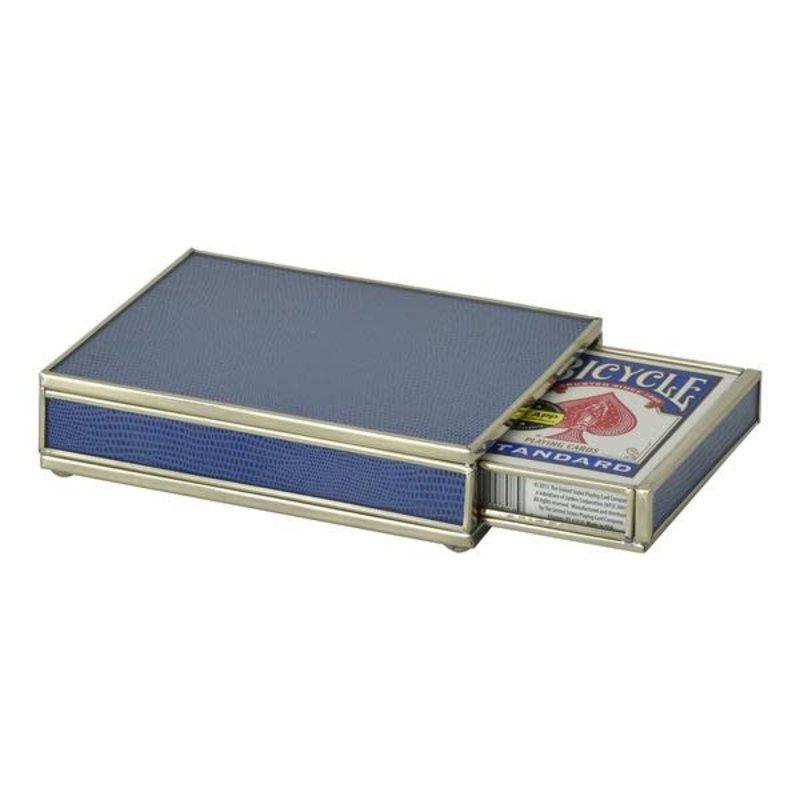 JM Piers Fine Furniture Card Box -  Cobalt Lizard