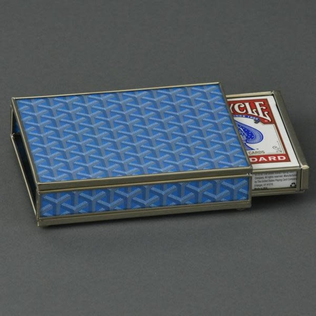 Card Box -  Goyard Inspired - Blue