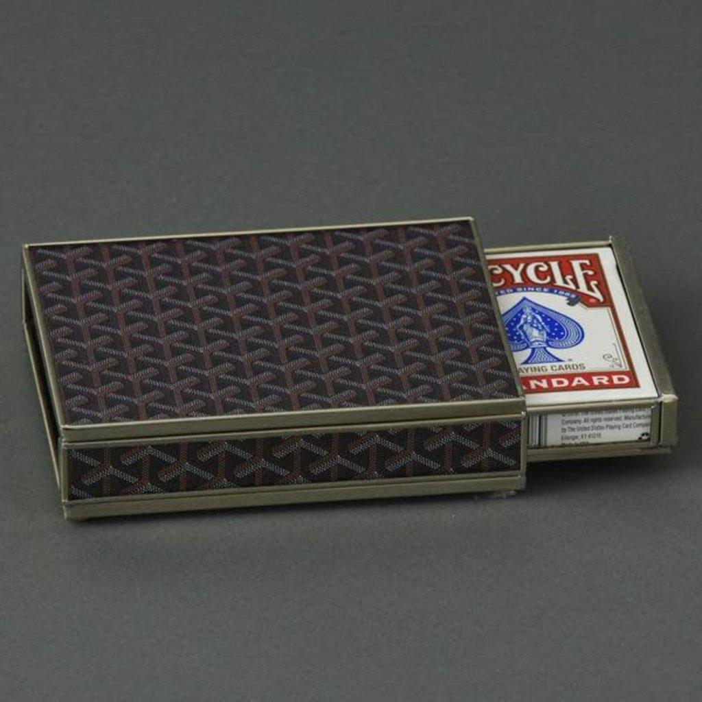 Card Box -  Goyard Inspired - Brown