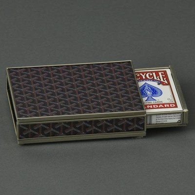 Card Box -  Goyard Inspired - Brown