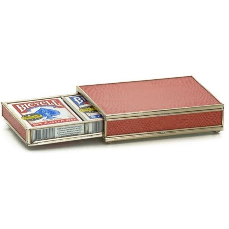 JM Piers Fine Furniture Card Box -  Orange Skin