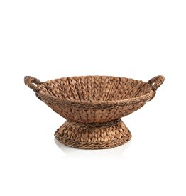 MH Bowl - Tropical Water Hyacinth - Footed/Handles