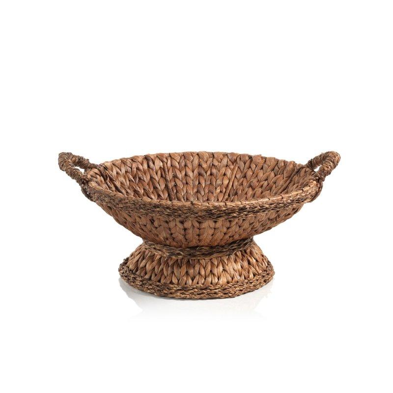 Bowl - Tropical Water Hyacinth - Footed/Handles