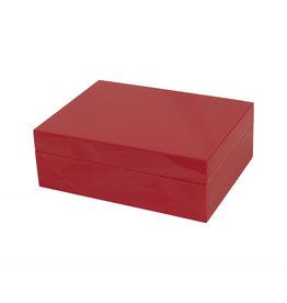 MH Box - Wood - (8x6x3) -  Red