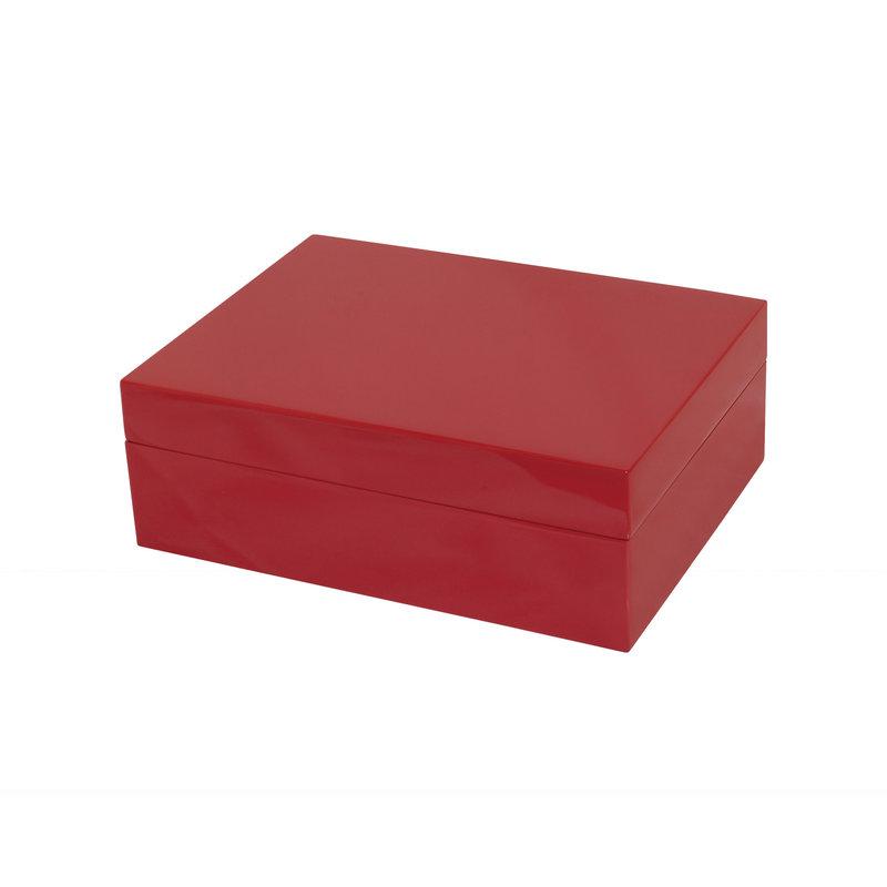 Box - Wood - (8x6x3) -  Red
