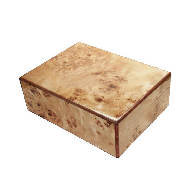 MH Natural Burl Wood Box