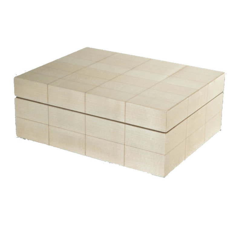 Tizo Design Inc. Box - Natural Box with Rectangular Blocks