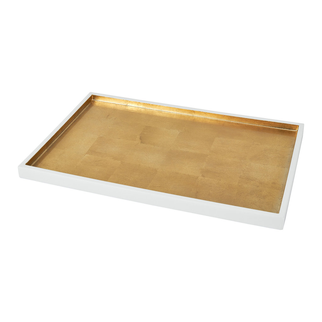 Tray - Wood & Gold or Silver