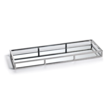 "Rectangular Narrow Mirrored Tray - Large 23.5""x 8""x 2"""