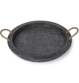 "Tray - Aegean Serving - Handles/Round - 22""D -  Grey"