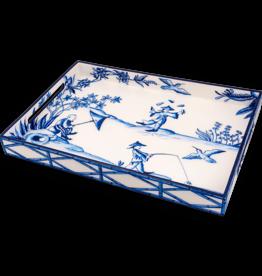 MH Tray - Lacquer - Peking Picnic - Blue - 14x20