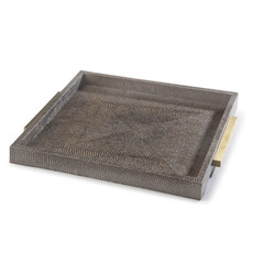 Tray - Square Boutique - Vintage Brown Python