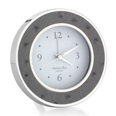 MH Alarm Clock - Round -  Twilight Ostrich - Silver