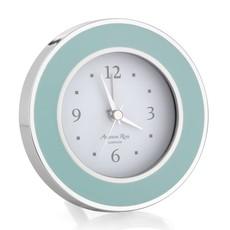 MH Alarm Clock - Round - Enamel & Silver -  Light Blue