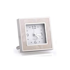 MH Alarm Clock - Square - MOP & Silver
