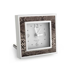 MH Alarm Clock - Square - Natural Snake & Silver