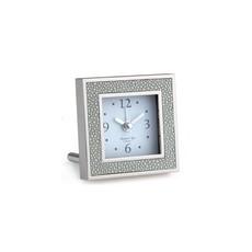 MH Alarm Clock - Square - Shagreen & Silver -  Grey