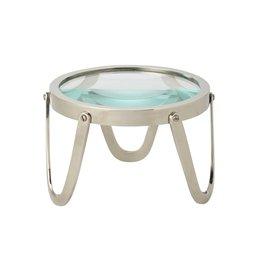 "Edwin Magnifying Glass - Nickel - 5.5""W x 4""H"